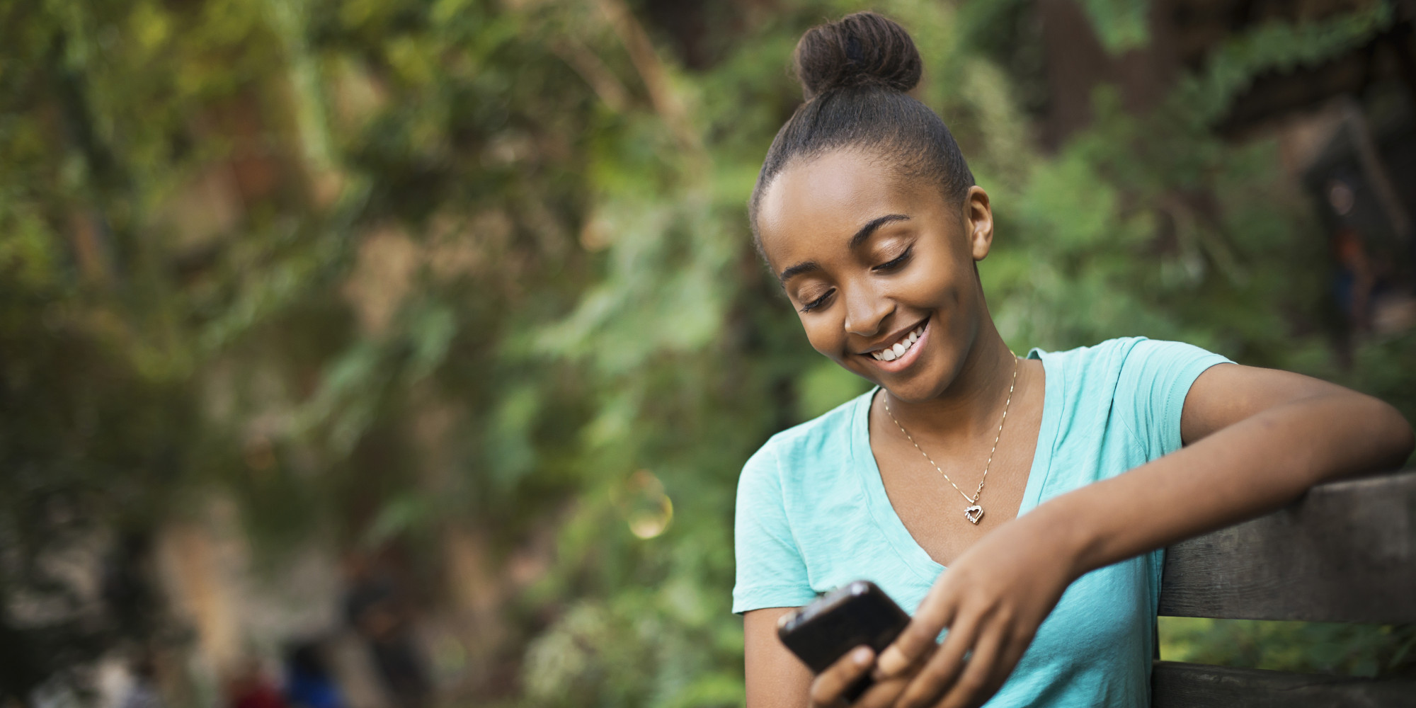 Image result for black teen on the phone