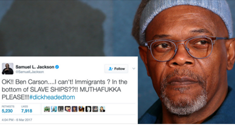 Samuel L Jackson slams Ben Carson over Slaves were Immigrants Comment