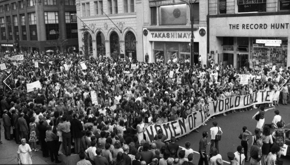 Women's Equality Strike 5th. Ave. New York 1970 International Womens Day