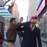 Reactions When a Guy Walks Around The City Dressed As Trump
