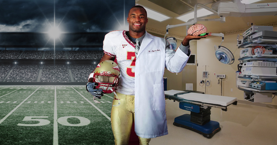 Myron Rolle's Incredible transition from becoming released Pro Football player to Neurosurgeon.