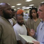 Cook County Jail Sheriff Tom Dart Talks with Inmates about their situations